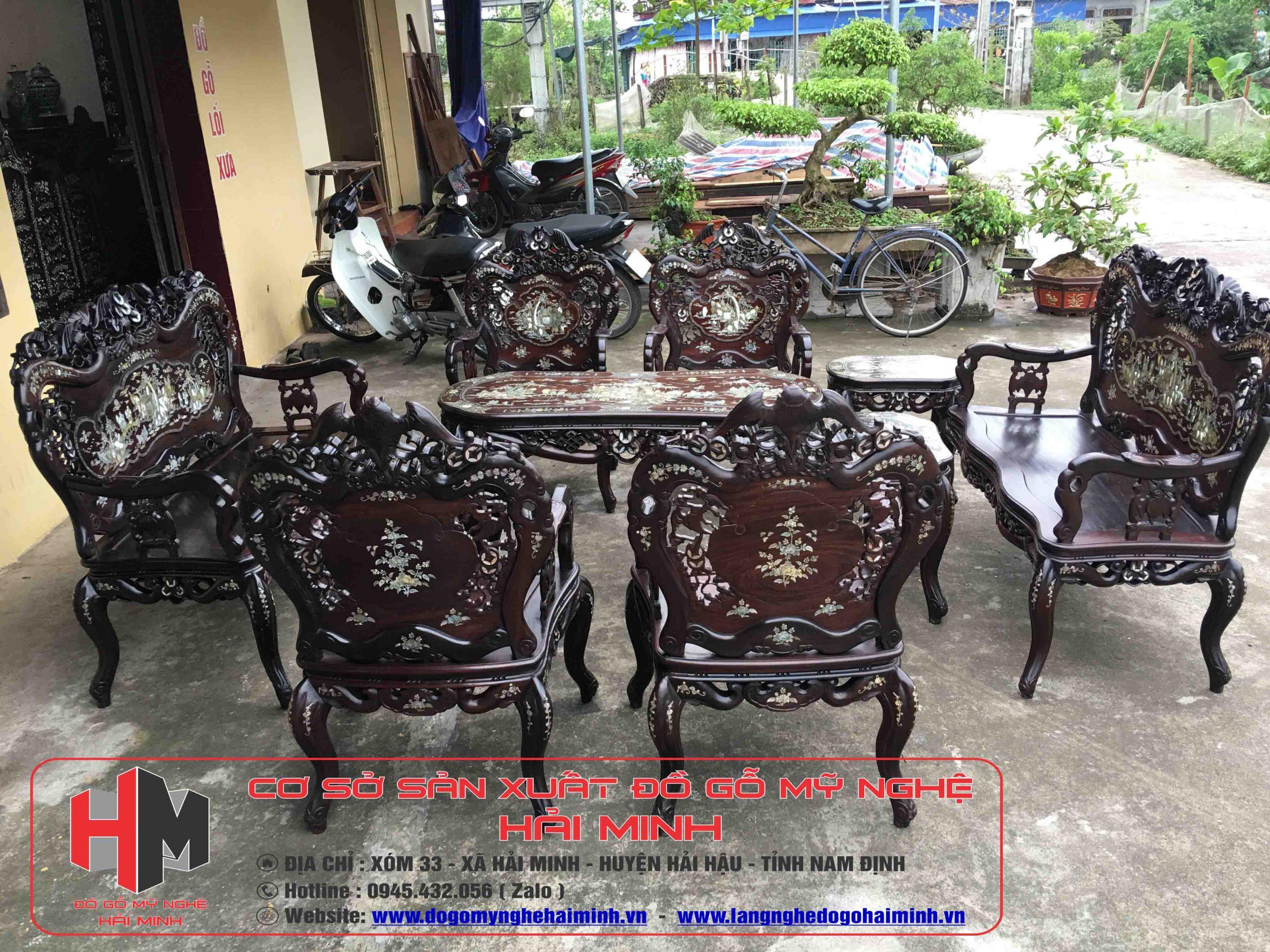 Bộ Bàn Ghế Luois Khánh Dơi