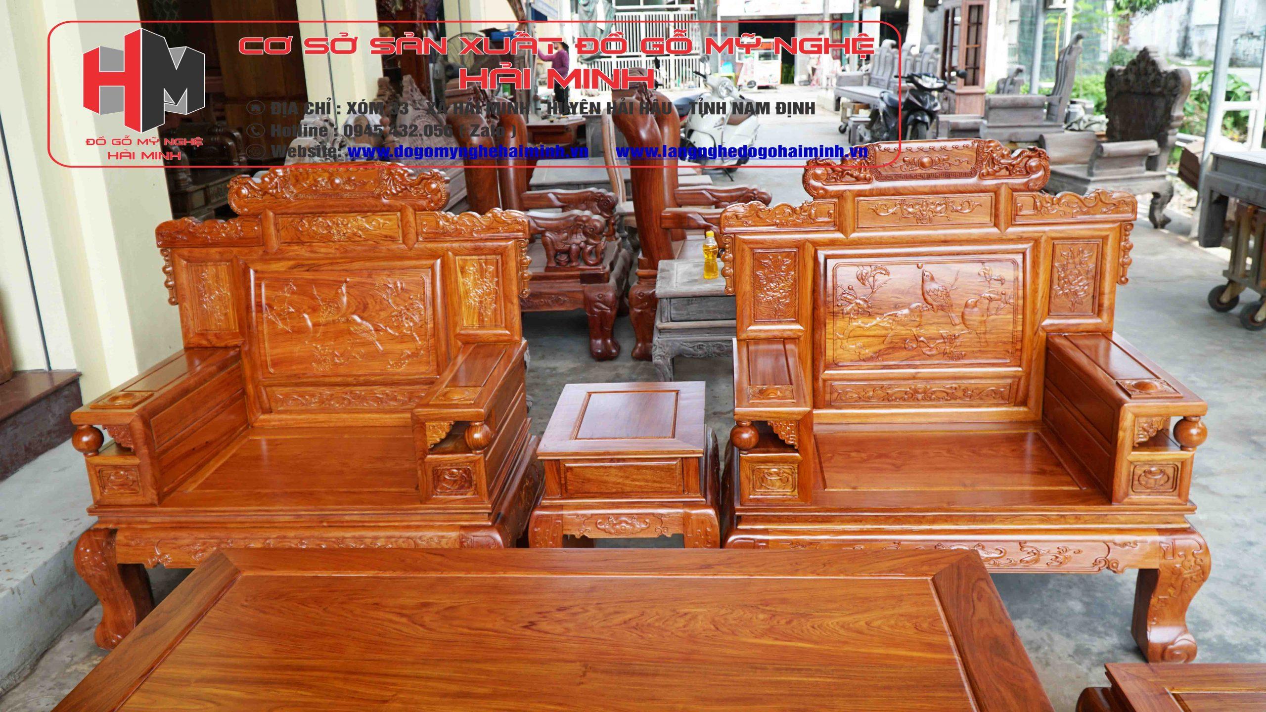 Bộ Bàn Ghế Phù Dung Hương Đá