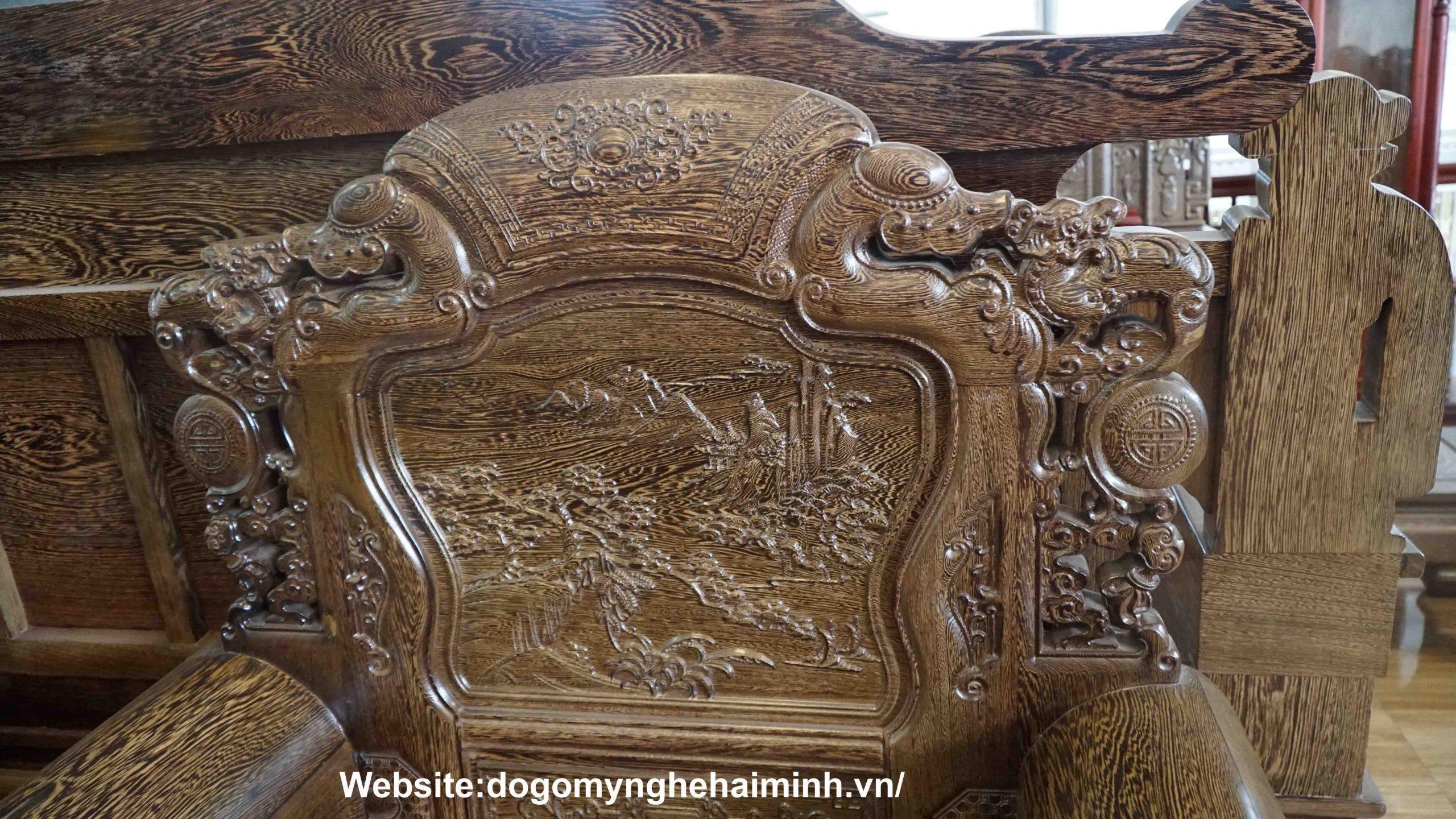 Ghế Khổng Tử Gỗ Mun