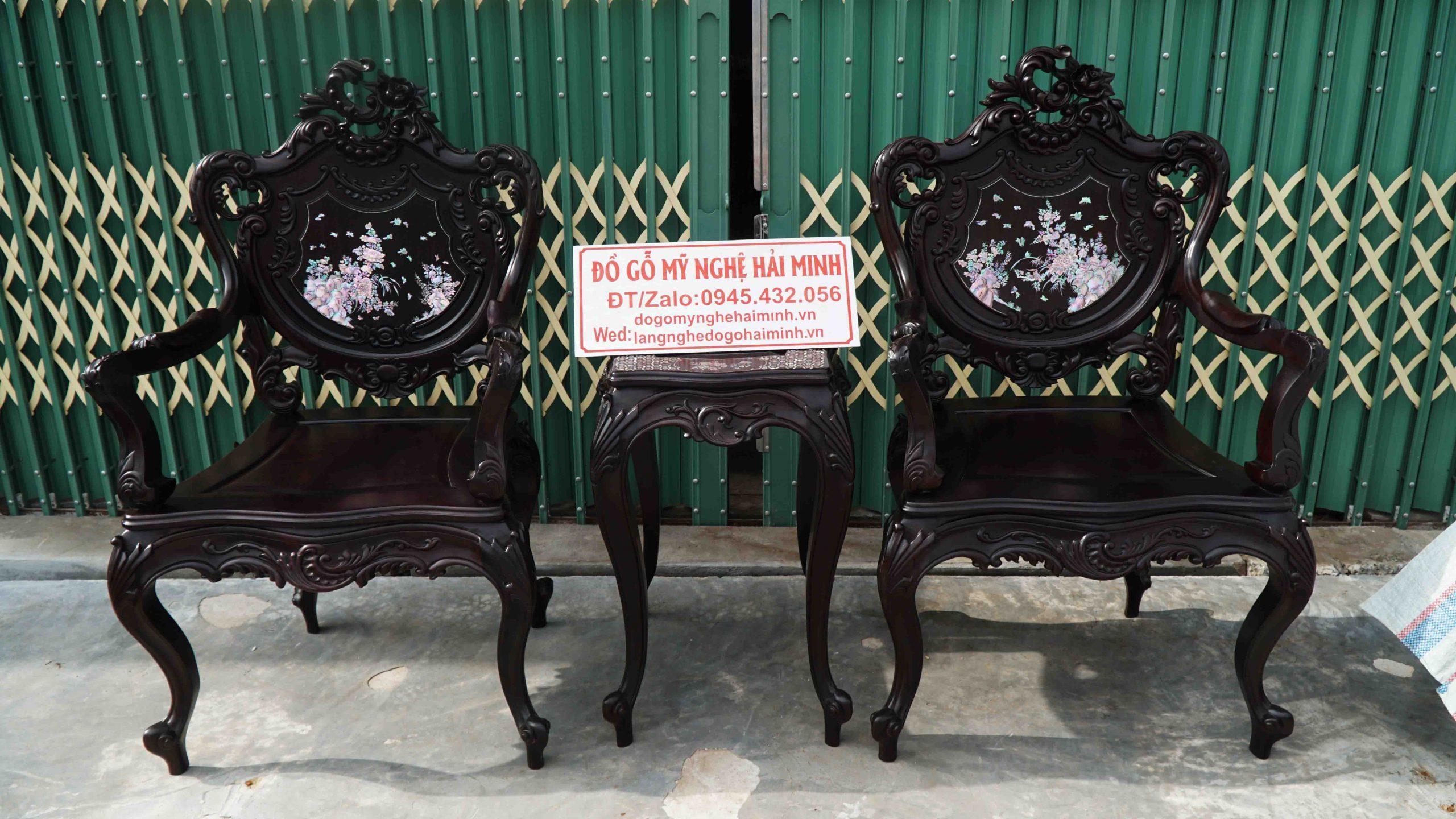 Bộ Bàn Ghế Luois Khảm Ốc