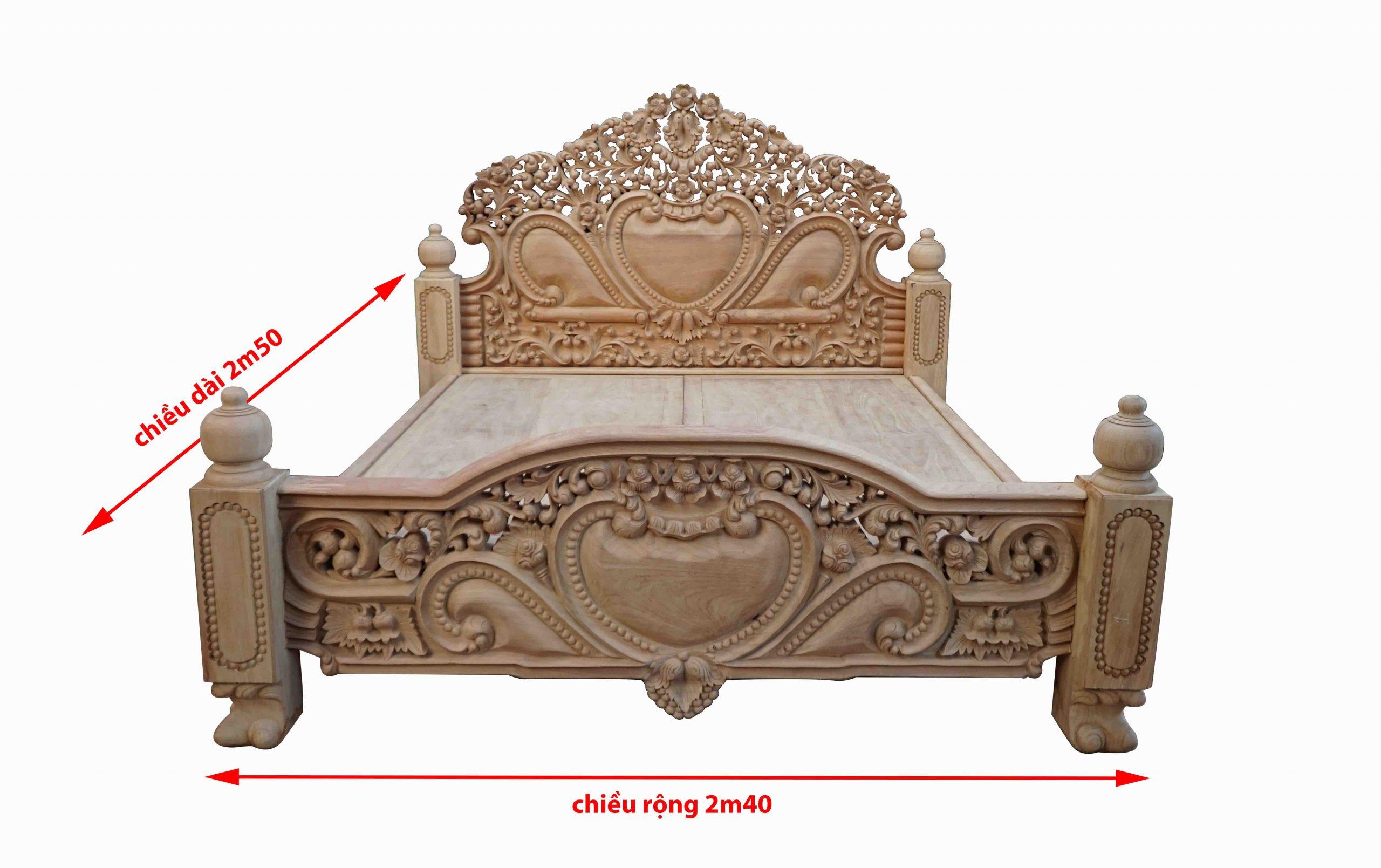 Giường Louis Hoàng Gia Tân Cổ Điển