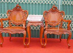 Bộ Bàn Ghế Louis Hương Đá 9Món