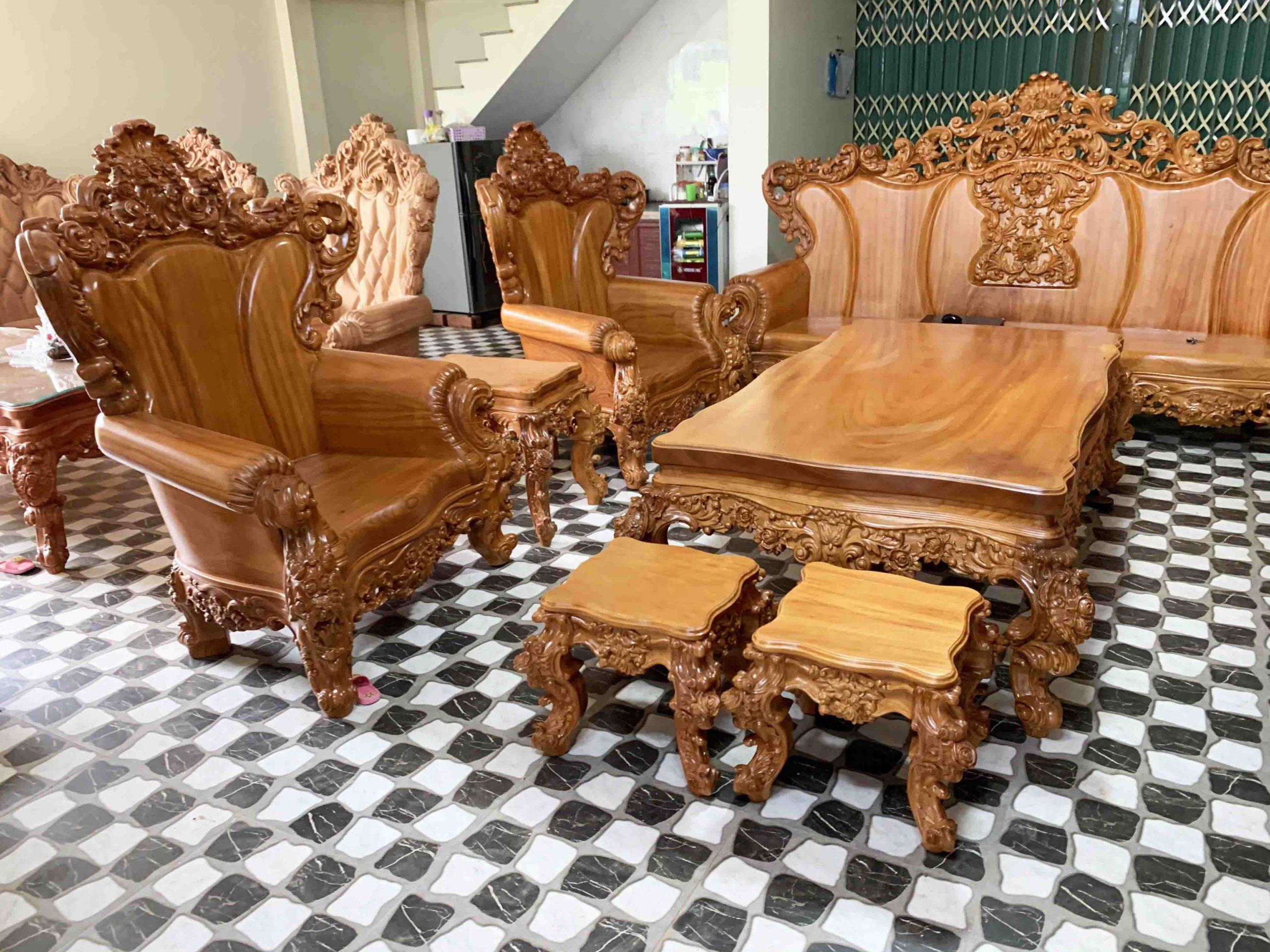 Bộ Ghế Sofa Louis Hoàng Gia 10 Món